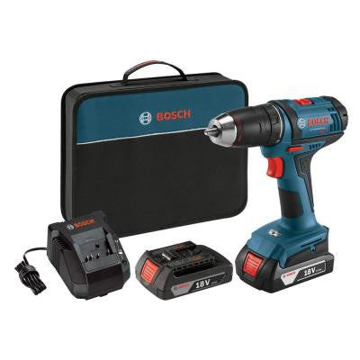 18-Volt Lithium Ion 1/2 in. Cordless Compact Drill/Driver Kit