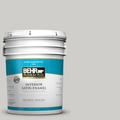 5-gal. #PPF-18 Gazebo Gray Zero VOC Satin Enamel Interior Paint