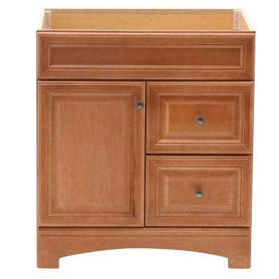 Cambria 30 in. W x 21 in. D x 33.5 in. H Vanity Cabinet Only in Harvest