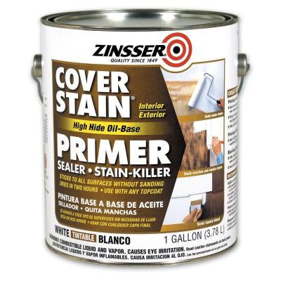 1-gal. White Flat Cover Stain Primer