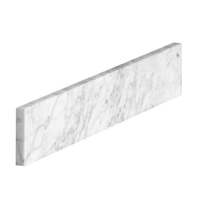 21 in. Marble Sidesplash in Carrara