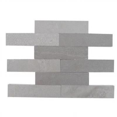 Brushed Lady Gray Marble Mosaic Tile - 2 in. x 8 in. Tile Sample