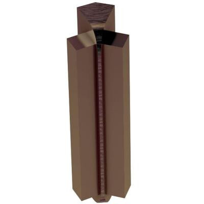 Rondec-Step Brushed Antique Bronze Anodized Aluminum 5/16 in. x 1-13/16 in. Metal 135 Degree Inside Corner