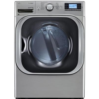 9.0 cu. ft. Electric Dryer with Steam in Graphite Steel