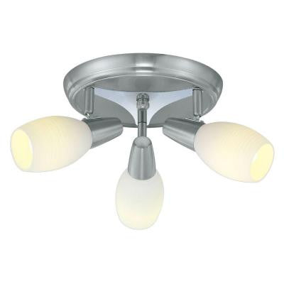 Parma 3-Head Matte Nickel Ceiling Lighting Fixture