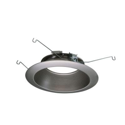 6 in. Satin Nickel Recessed Lighting LED Baffle Trim