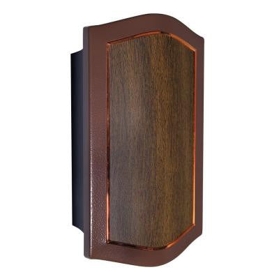 Designer Series Wired/Wireless Door Chime with Mahogany and Oil-Rubbed Bronze Cover