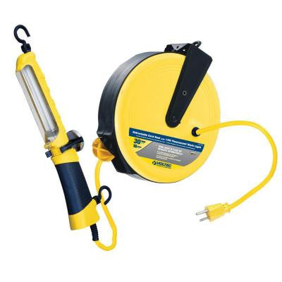 35 ft. 16/3 SJT 13-Watt Fluorescent Angle Retractable Cord Reel - Yellow