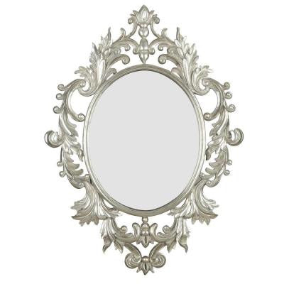Louis 38 in. H x 28 in. W Oval Polyurethane Framed Mirror