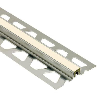 Dilex-KSN Stainless Steel with Sand Pebble Insert 5/8 in. x 8 ft. 2-1/2 in. Metal Movement Joint Tile Edging Trim