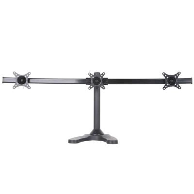 Triple Monitor Desk Mount Arm for 13 in. - 24 in. Screens, Holds 3 Monitors, 15 Degree Tilt, 13 lb. Capacity