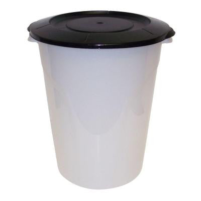 24 qt. Plastic Utility Can Super Clarified Base with Black Lid