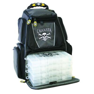 Black and Gray Tackle Backpack with 3-360 Trays