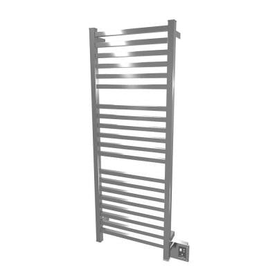 Quadro Q-2054 20.5 in. W x 54.5 in. H 20-Bar Electric Towel Warmer in Brushed Stainless Steel