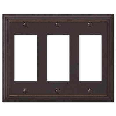 Steps 3 Decora Wall Plate - Aged Bronze