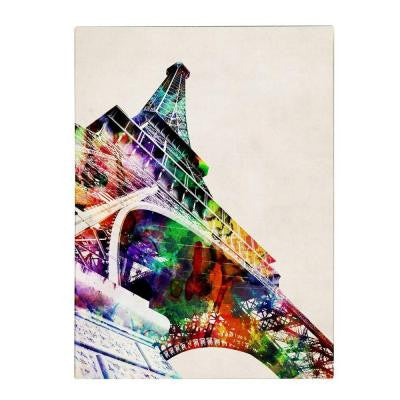 19 in. x 14 in. Eiffel Tower Canvas Art