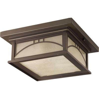 Residence Collection 2-Light Antique Bronze Outdoor Flush Mount