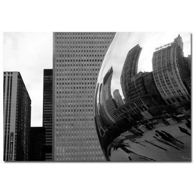 22 in. x 32 in. Elastic Skyline Canvas Art