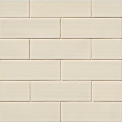 Antique White 4 in. x 12 in. Handcrafted Glazed Ceramic Wall Tile (2 sq. ft. / case)