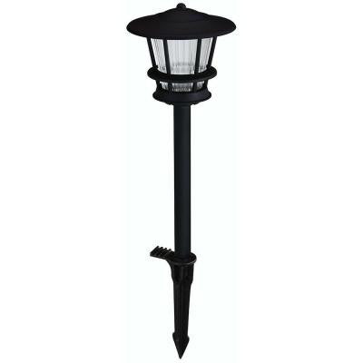 Low-Voltage LED Black Outdoor 2-Tier Path Light