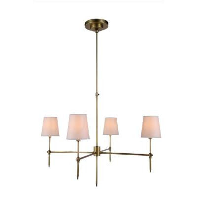 Baldwin 4-Light Burnish Brass Pendant Lamp