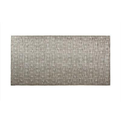 Dunes Vertical 96 in. x 48 in. Decorative Wall Panel in Crosshatch Silver