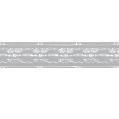 4 in. x 4 ft. Powder-Coated White Nail-up/Direct Application Tin Ceiling Cornice (6-Pack)