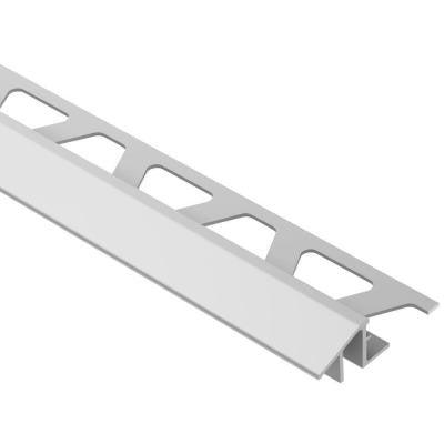 Reno-TK Satin Anodized Aluminum 1/2 in. x 8 ft. 2-1/2 in. Metal Reducer Tile Edging Trim