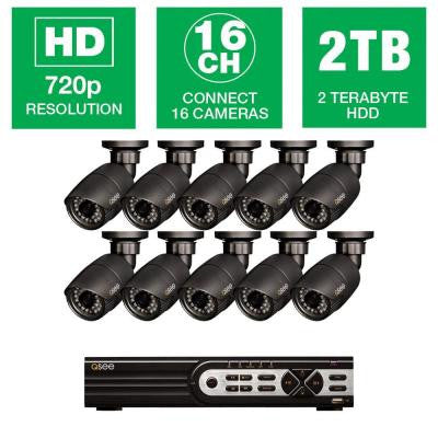 HeritageHD Series 16-Channel 720p 2TB Surveillance System with 10 HD Camera and 80 ft. Night Vision