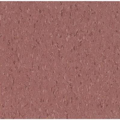 Imperial Texture VCT Cayenne Red Standard Excelon Commercial Vinyl Tile - 6 in. x 6 in. Take Home Sample