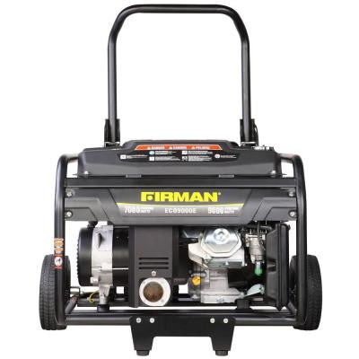 9000-Watt Gasoline Powered Electric Start Portable Generator with Wheel Kit