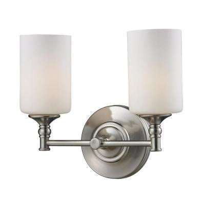 Lawrence 2-Light Satin Nickel Incandescent Wall Bath Vanity Light