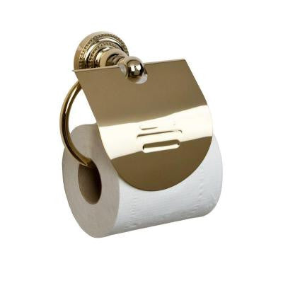 Nevelyn Single Post Toilet Paper Holder in Polished Brass