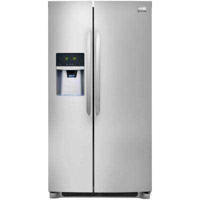 Gallery 25.57 cu. ft. Side by Side Refrigerator in Stainless Steel, ENERGY STAR