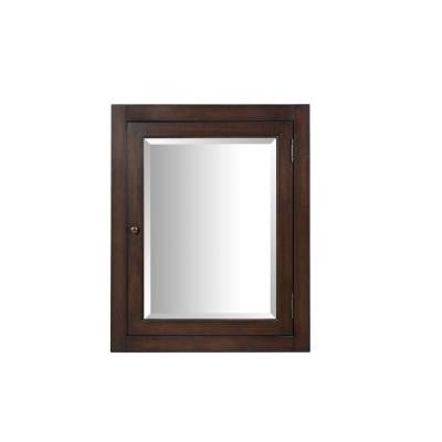 Richmond 24 in. x 30 in. Surface-Mount Corner Medicine Cabinet in Mahogany