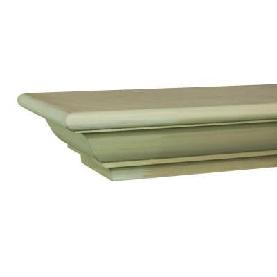 Traditional 4 ft. Paint Grade Cap-Shelf Mantel