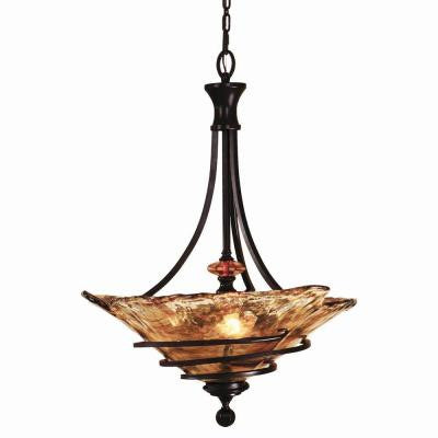 Vitalia 3-Light Bronze Pendant