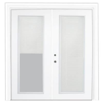 72 in. x 80 in. Steel Patio Door with Internal Miniblinds