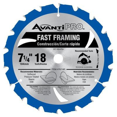 7-1/4 in. x 18-Tooth Fast Framing Saw Blade