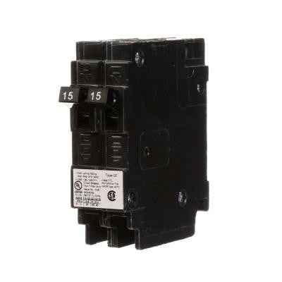 15 Amp Tandem Single-Pole Type QT NCL-Circuit Breaker