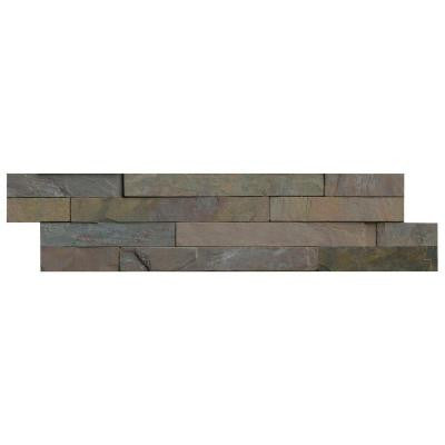 Multi Classic Ledger Panel 6 in. x 24 in. Natural Slate Wall Tile (10 cases / 40 sq. ft. / pallet)