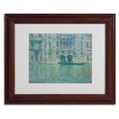 11 in. x 14 in. Palazzo Da Mula Venice Matted Brown Framed Wall Art