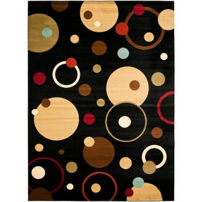 Porcello Black/Multi 6 ft. 7 in. x 9 ft. 6 in. Area Rug