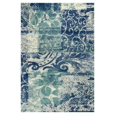 Whimsical Palette Blue/Green 5 ft. x 7 ft. Area Rug