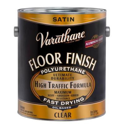 1 gal. Clear Satin 275 VOC Oil-Based Floor Finish Polyurethane (Case of 2)
