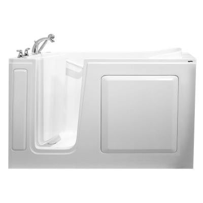 Value Series 60 in. x 30 in. Walk-In Whirlpool and Air Bath Tub in White