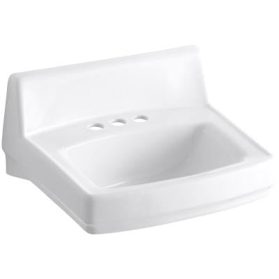 Greenwich Wall-Mounted Bathroom Sink in White