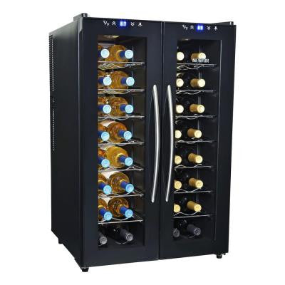 32-Bottle Dual-Zone Thermoelectric Wine Cooler