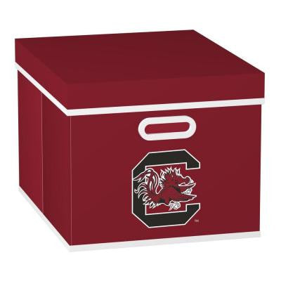 College STACKITS University of South Carolina 12 in. x 10 in. x 15 in. Stackable Garnet Fabric Storage Cube