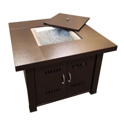 38 in. Steel Firepit in Bronze